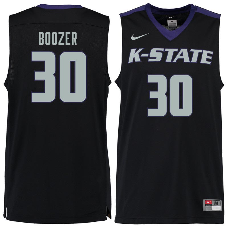Men #30 Bob Boozer Kansas State Wildcats College Basketball Jerseys Sale-Black